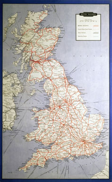 British Railways (Map of System and Shipping Routes), 1962