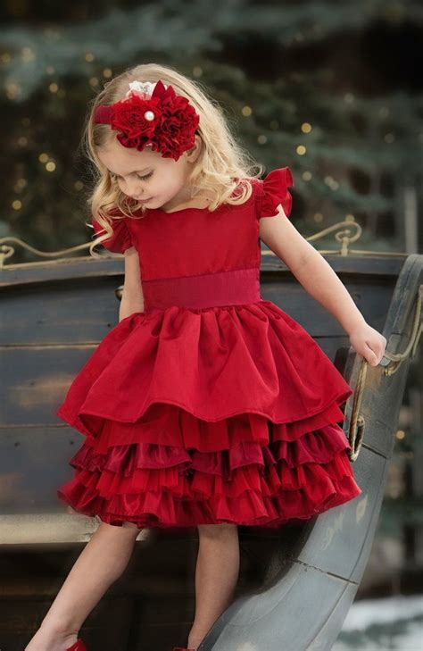 Persnickety Clothing - Loralei Dress - Red - Holiday, $140