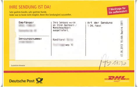 Ist dhl post – Tracking Support