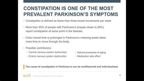 """Webinar: """"Why Might Constipation Be a Parkinson's Symptom"""