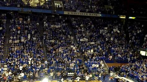 GameDay tests the decibel level of Rupp Arena - YouTube