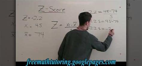 How to Find the standard deviation with the Z-Score