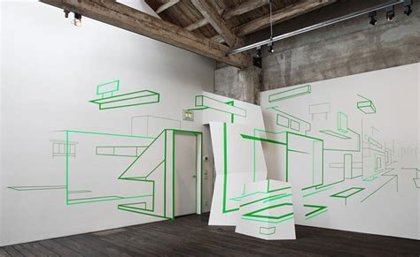 Installations of Imaginary Architecture by Damien Gilley