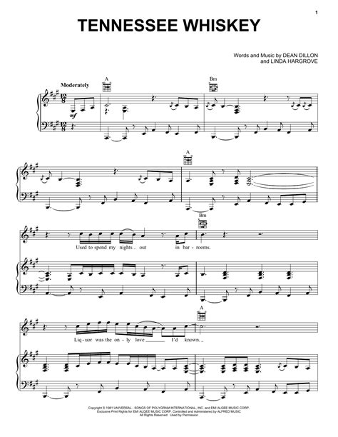(Smooth As) Tennessee Whiskey Sheet Music | Chris