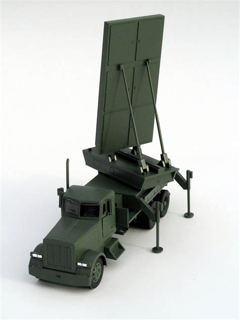 Military Truck Model with Radar