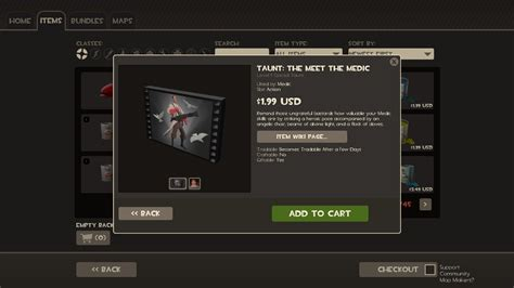 3D Objected Taunt Backpack Icons [Team Fortress 2] [GUI Mods]